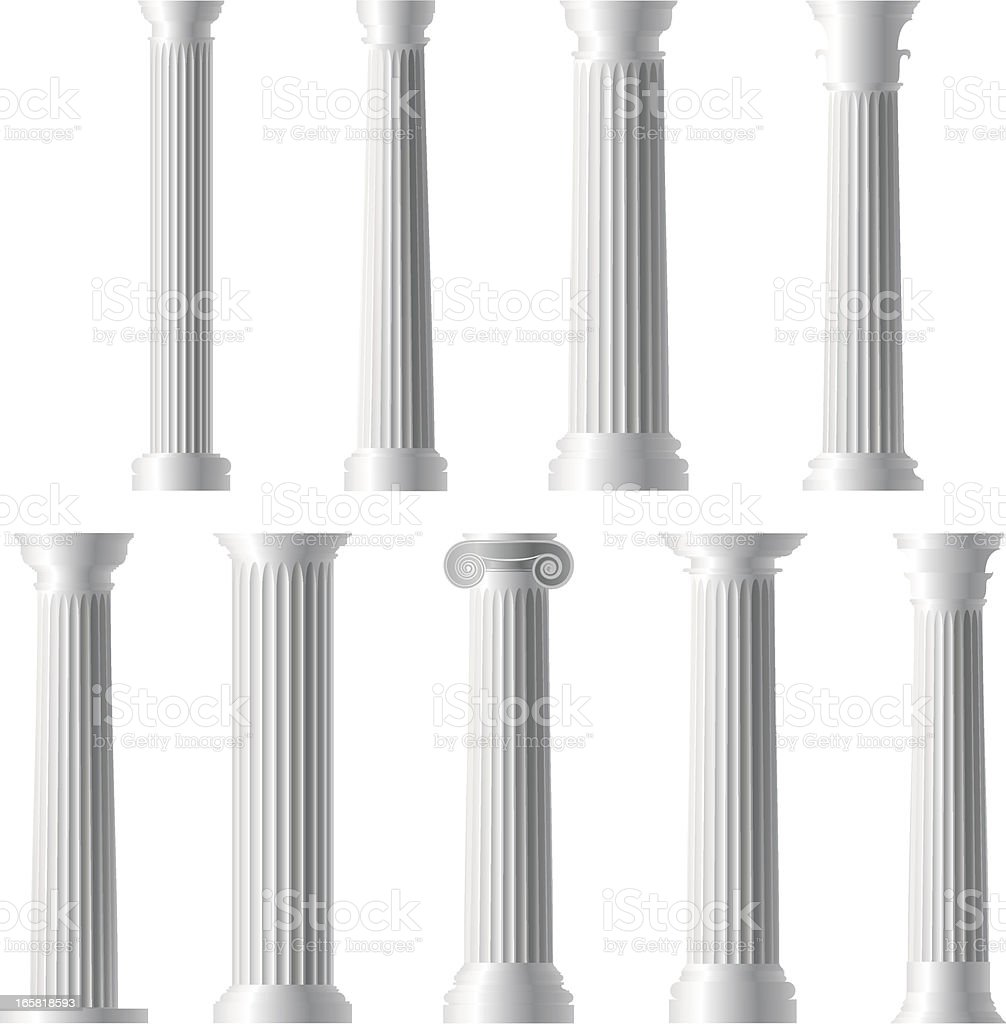 Columns and Pillars royalty-free stock vector art