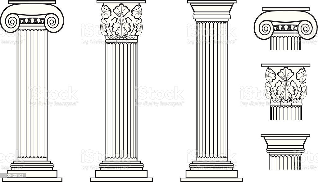 Columns vector art illustration