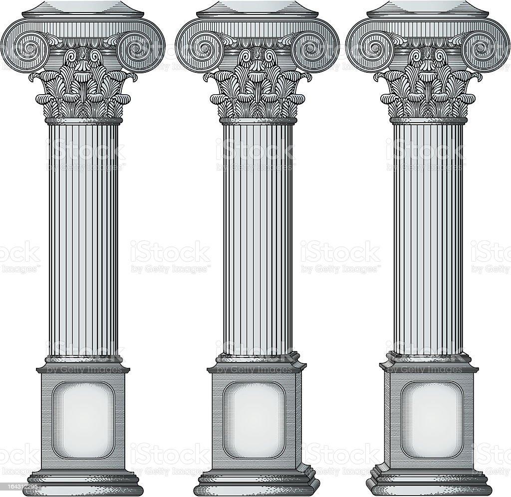 Columns vector royalty-free stock vector art