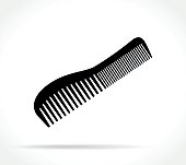 comb icon on white background