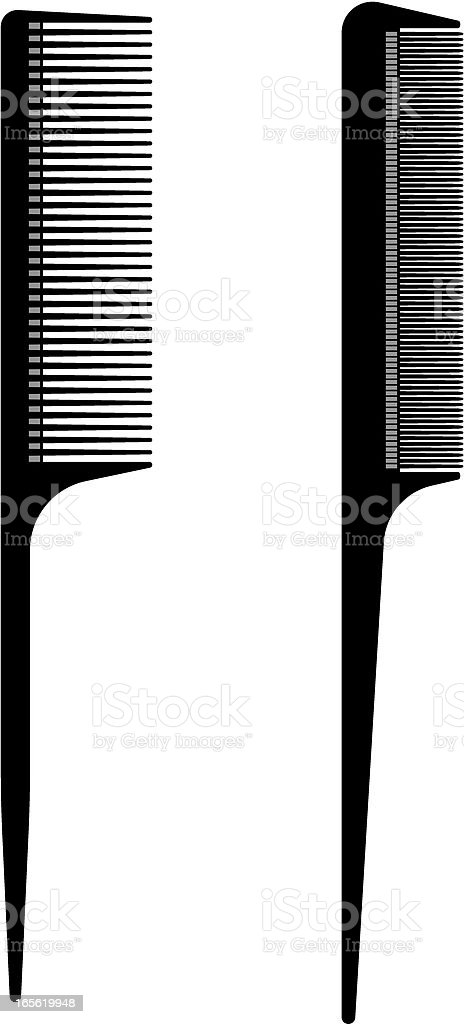 comb silhouettes royalty-free stock vector art