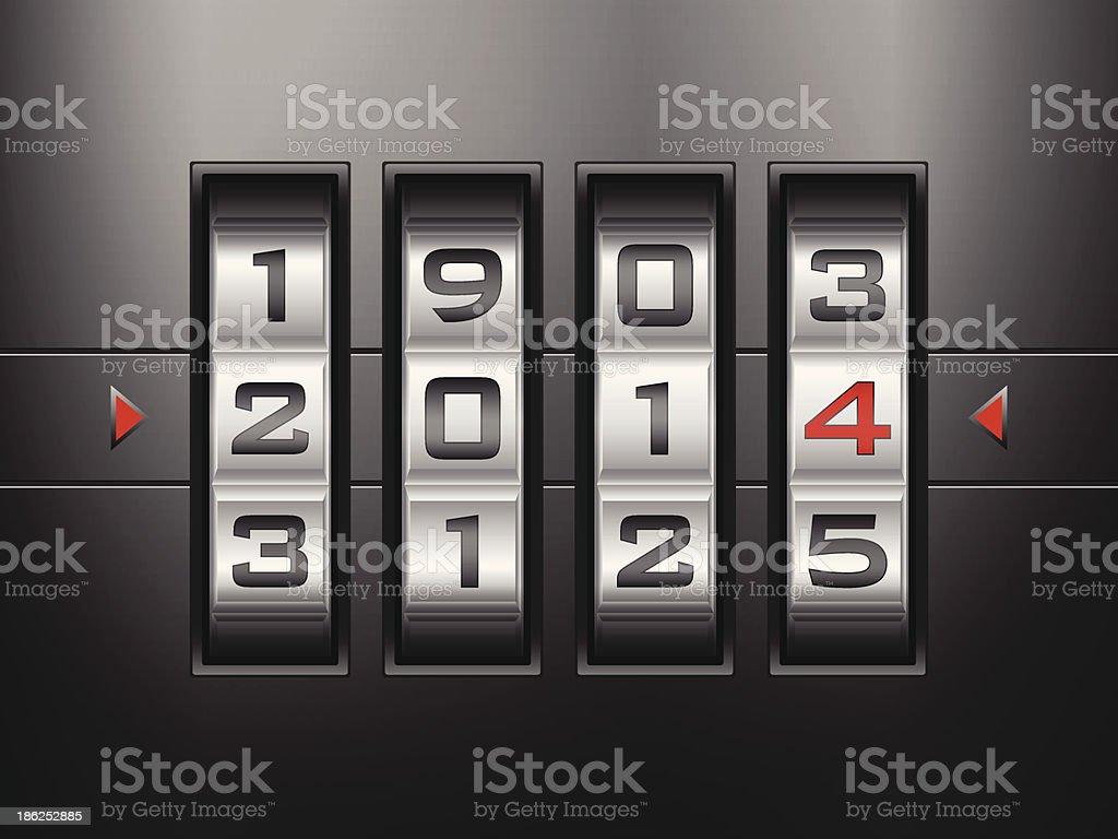 combination lock new year vector art illustration