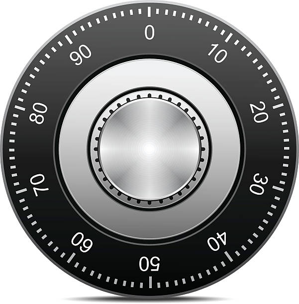 Combination Lock Combination Lock, EPS file version 10.Contains transparent objects (shadows) safes and vaults stock illustrations