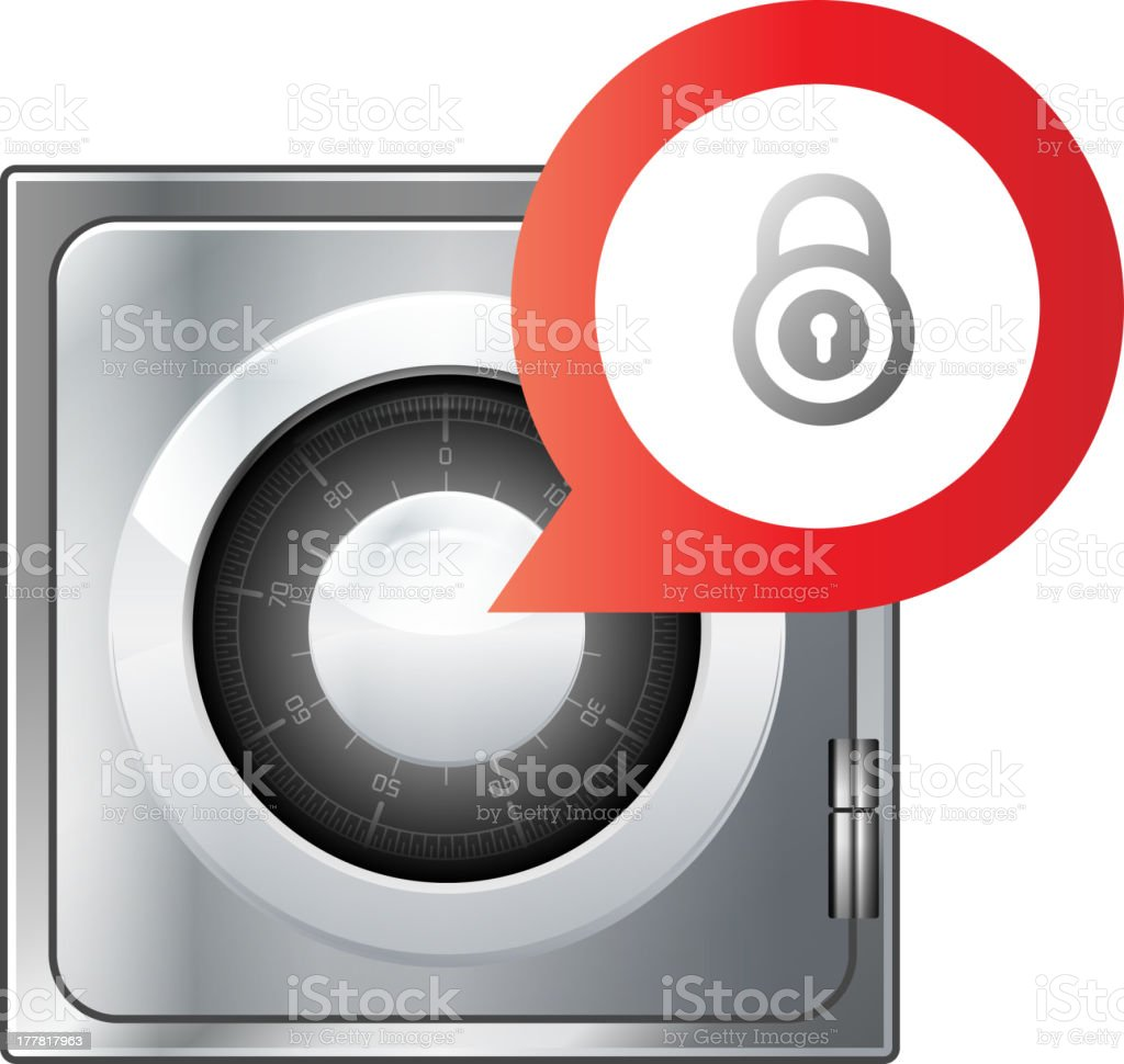 Combination Safe royalty-free stock vector art