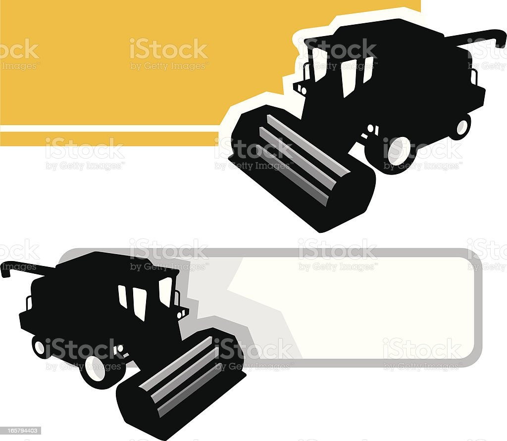 Combine harvester banner royalty-free stock vector art