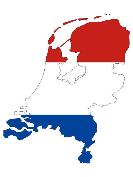 stockillustraties, clipart, cartoons en iconen met gecombineerde kaart en vlag van nederland - eindhoven