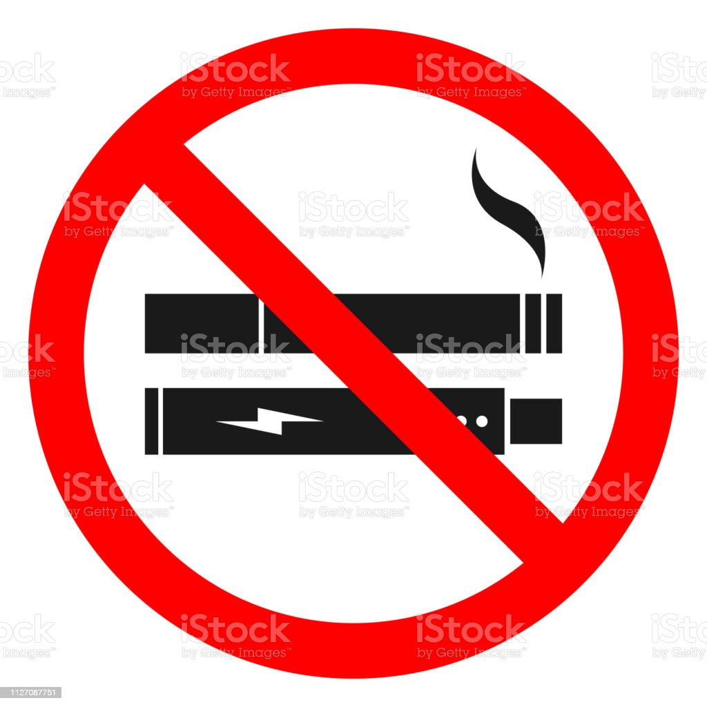 photo regarding No Smoking Sign Printable named No Using tobacco No Vaping Merged Signal Printable Sticker Vector