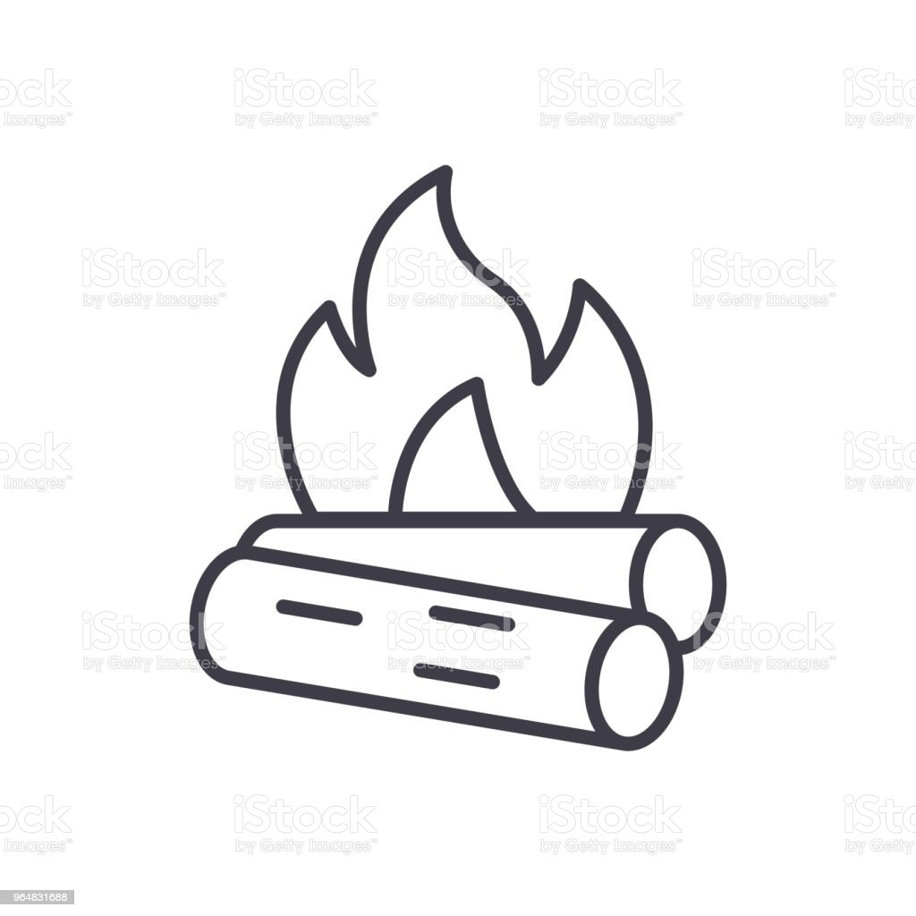 Combustible materials black icon concept. Combustible materials flat  vector symbol, sign, illustration. royalty-free combustible materials black icon concept combustible materials flat vector symbol sign illustration stock vector art & more images of alarm