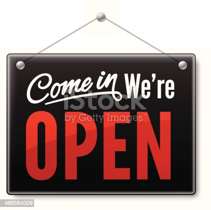 istock Come In We're Open 466584009