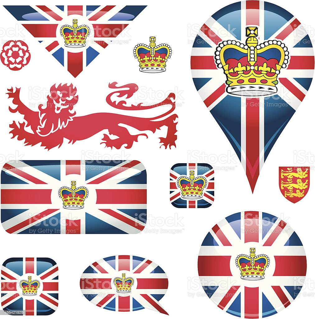 Come visit Royal Britain vector art illustration