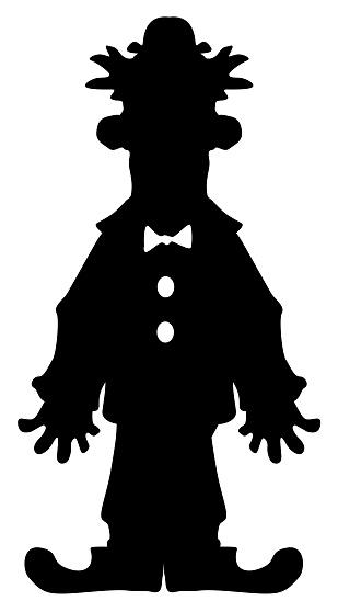 Comedian Cartoon Silhouette