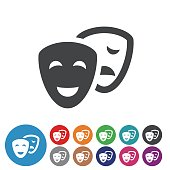Comedy and Tragedy Icons - Graphic Icon Series