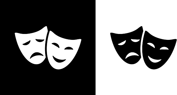 Comedy And Tragedy Masks.
