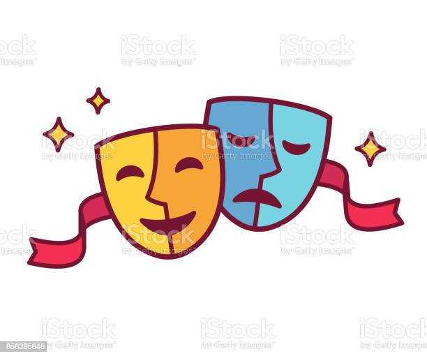 Comedy and tragedy theater masks vector id856395646?b=1&k=6&m=856395646&s=612x612&h=fkx cgsefiuklpd7ehvcann2t7vkogikn3af xmd lc=