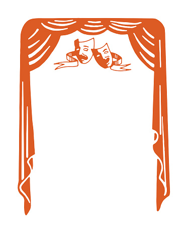 Comedy Tragedy Stage Curtain