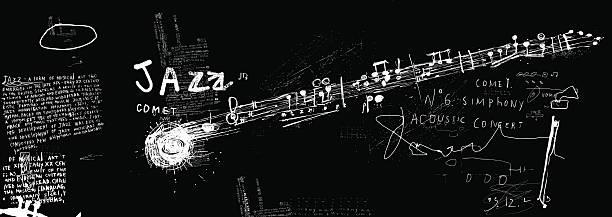 Comet jazz vector art illustration