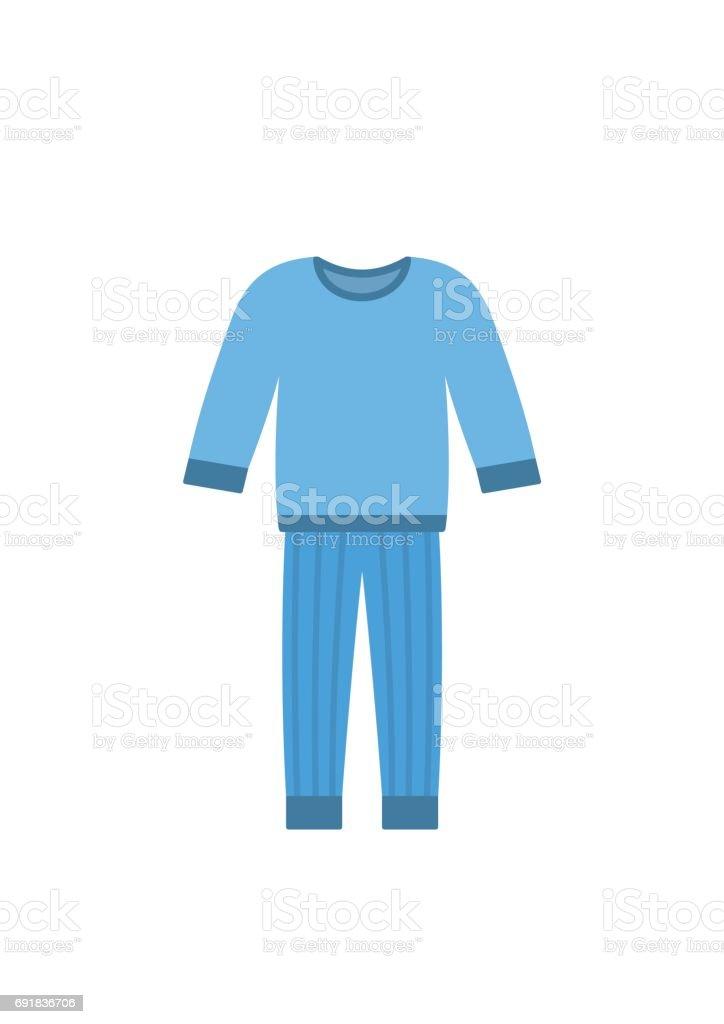 Comfort blue pajamas isolated on white background vector art illustration