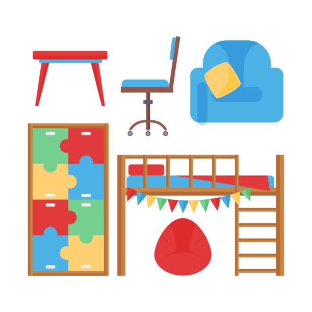 Bedroom Clip Art: Best Playroom Illustrations, Royalty-Free Vector Graphics