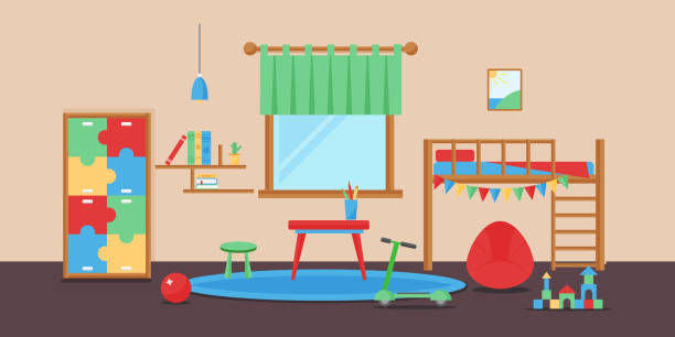 Room Clip Art: Best Playroom Illustrations, Royalty-Free Vector Graphics
