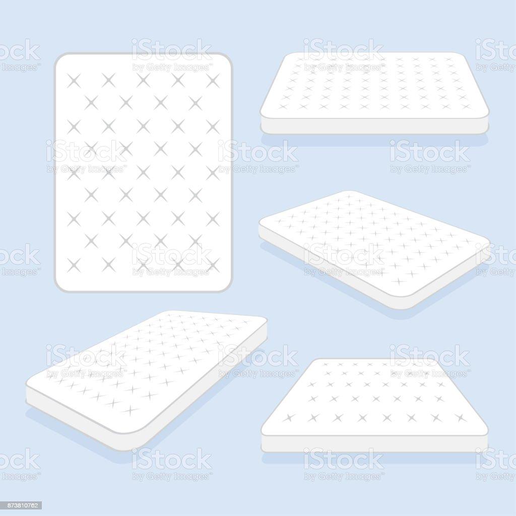 Comfortable double mattress for sleeping. vector illustration vector art illustration