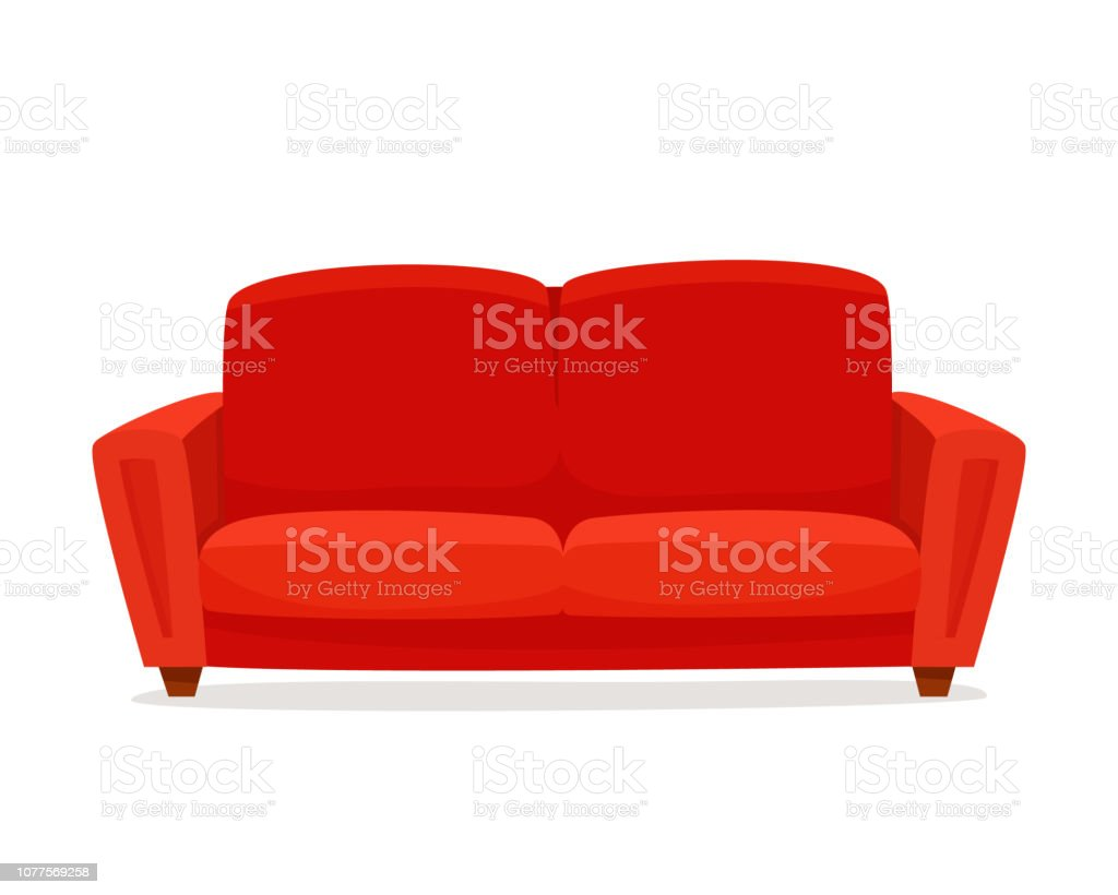 Comfortabele bank op witte achtergrond. - Royalty-free Begrippen vectorkunst