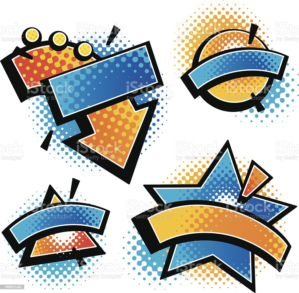 comic banners royalty-free comic banners stock vector art & more images of cartoon