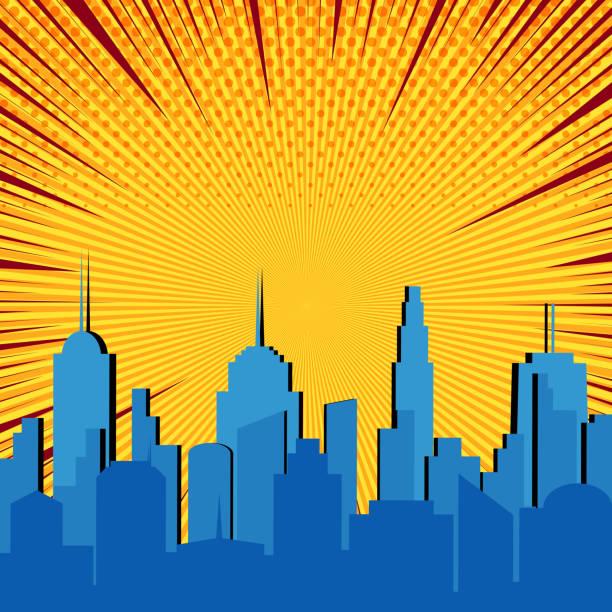 Comic Skyline Free Vector Art - (18 Free Downloads)