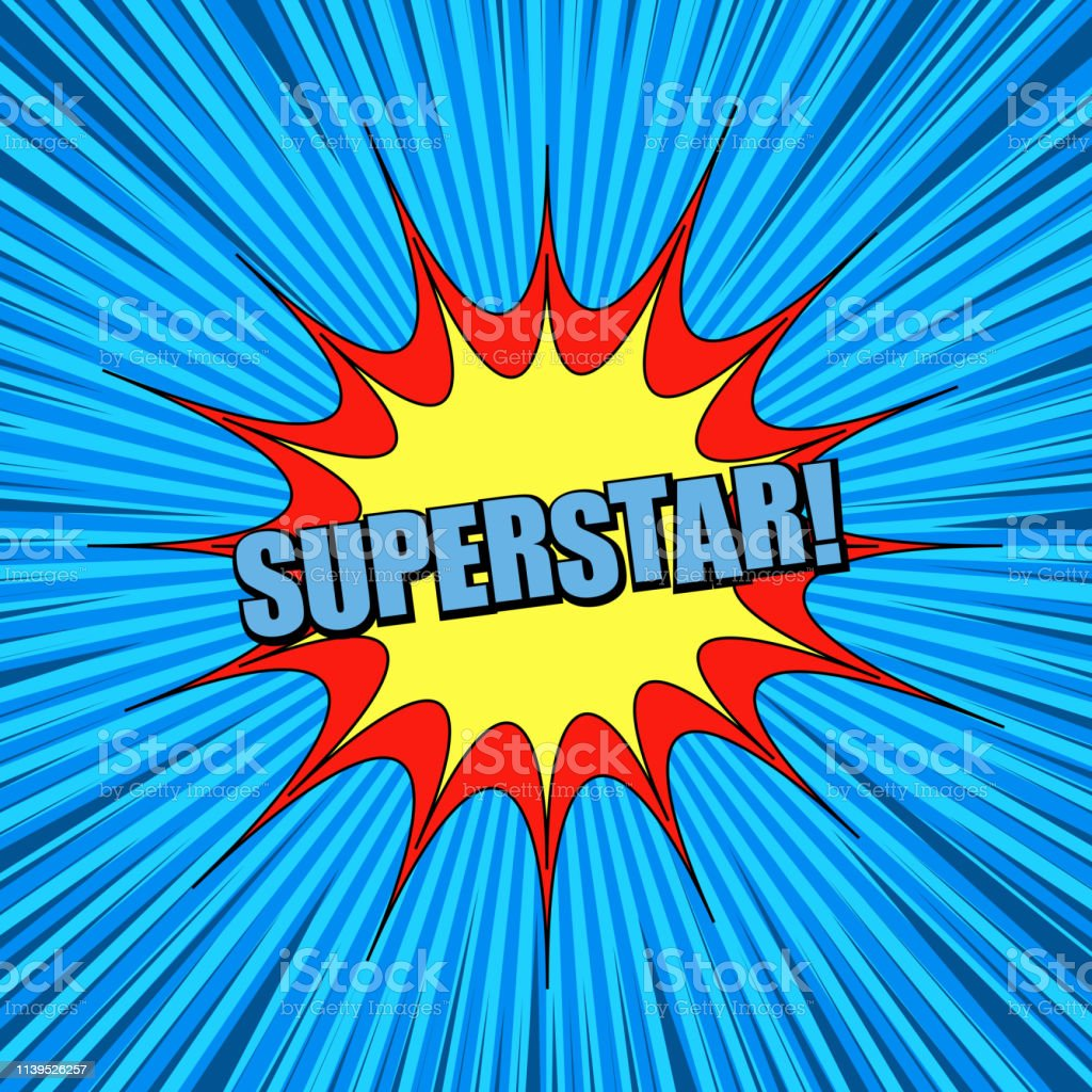 Comic Blue Explosive Super Background Stock Illustration