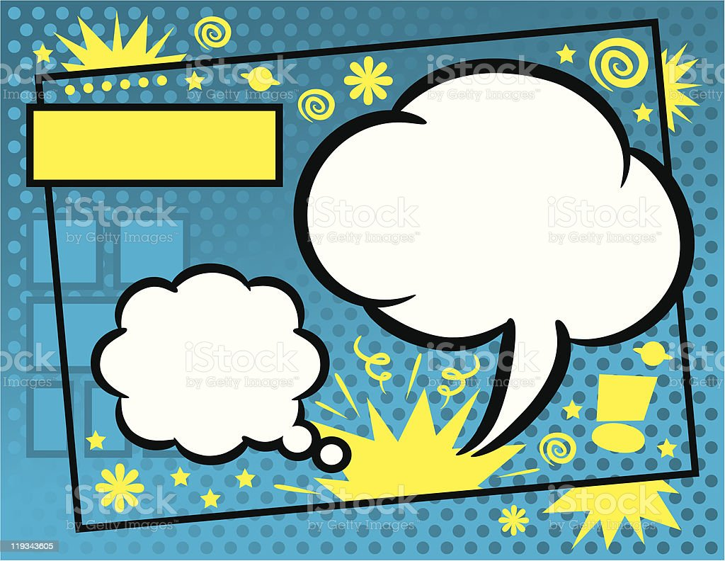Comic Book Background royalty-free stock vector art
