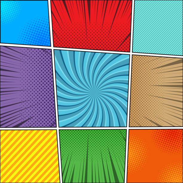 comic-buch-hintergründe-sammlung - lustige schnecken stock-grafiken, -clipart, -cartoons und -symbole