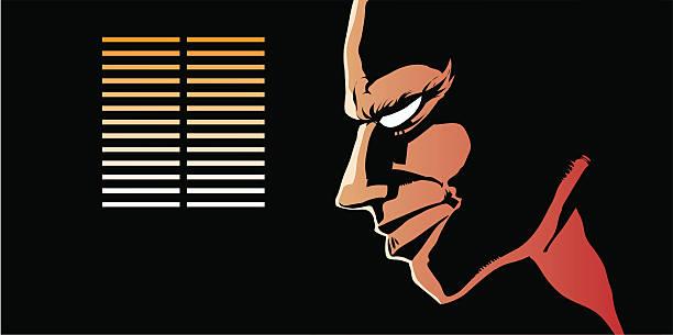 Comic book character vector art illustration