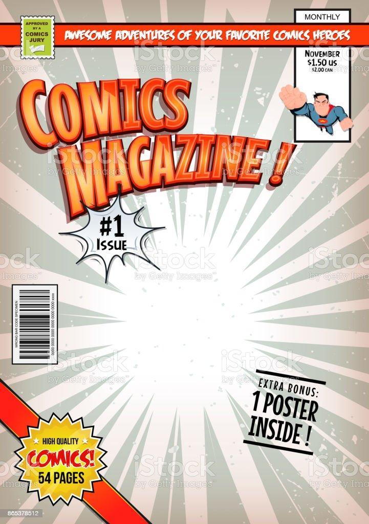 Comic Book Cover Template vector art illustration