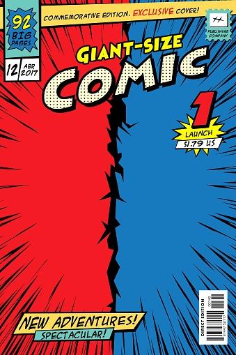 Comic book cover. clipart