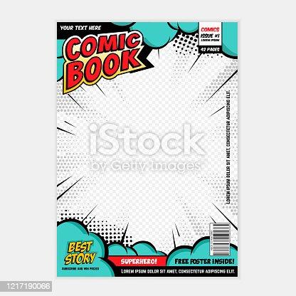 istock Comic book cover 1217190066