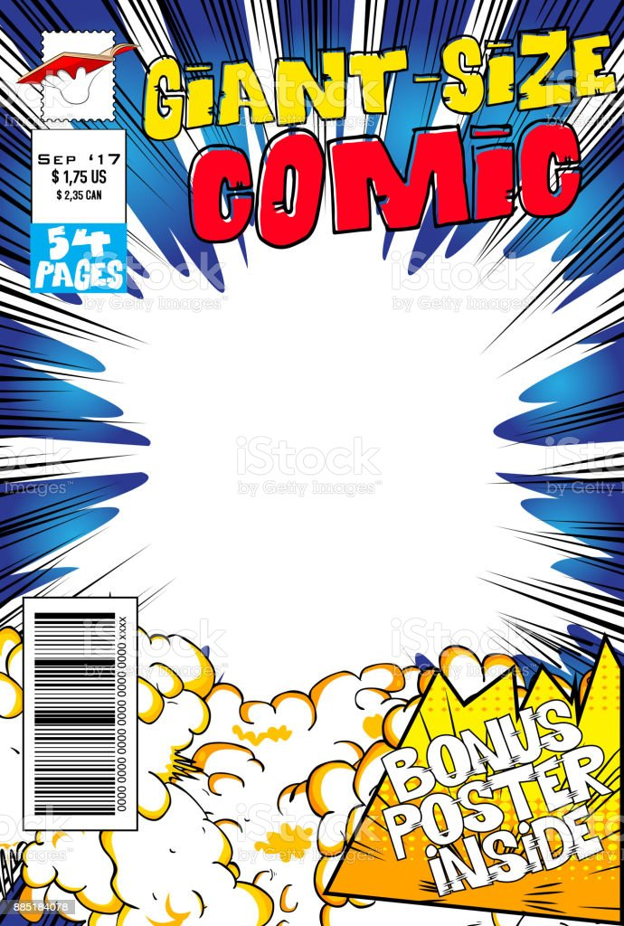 Comic book cover. royalty-free comic book cover stock illustration - download image now