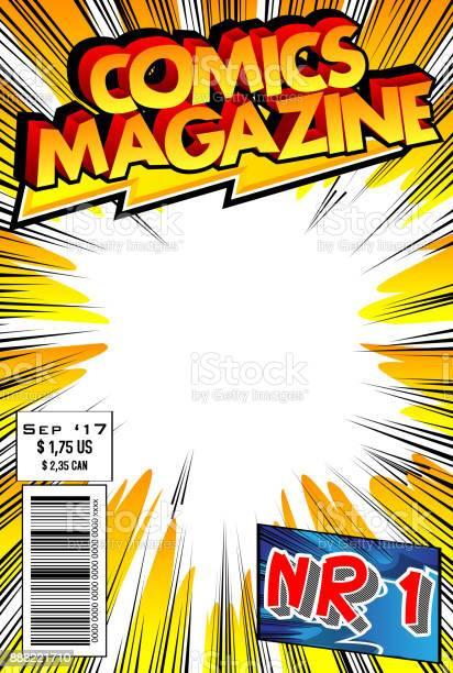 comic book cover template psd comic book free vector art - (, free downloads)