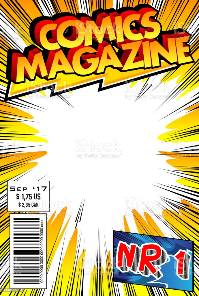 Comic book cover vector art illustration