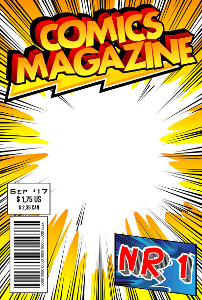 comic book cover - comic book stock illustrations, clip art, cartoons, & icons