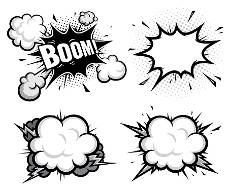 comic book efect explosion