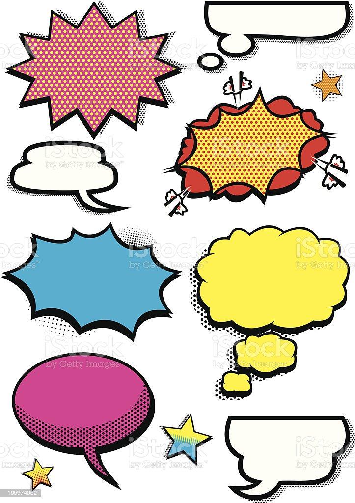 Comic Book Elements royalty-free stock vector art