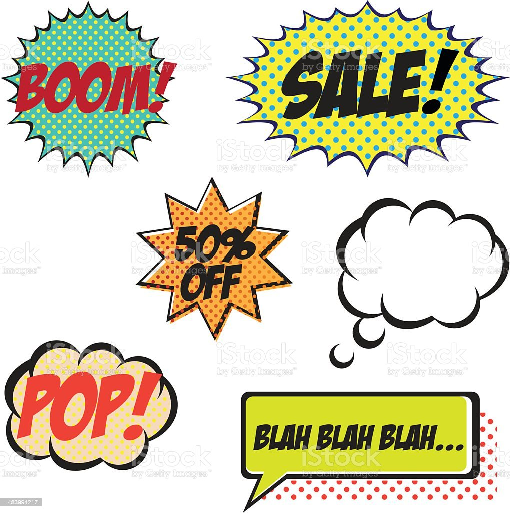 Comic Book Elements royalty-free stock vector art
