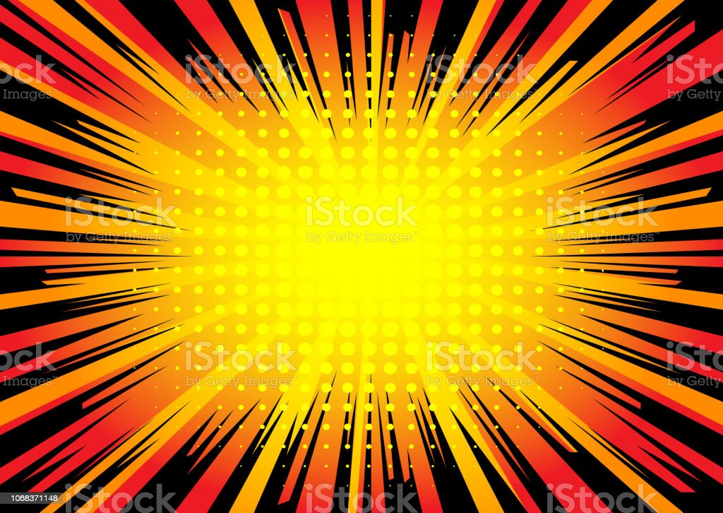 Comic Book Explosion Background Stock Illustration