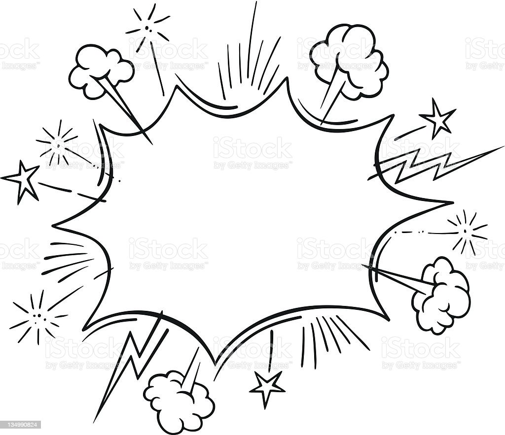 Comic Book Explosion Frame royalty-free comic book explosion frame stock vector art & more images of abstract