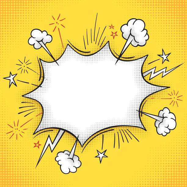 comic book explosion frame - comic book stock illustrations, clip art, cartoons, & icons