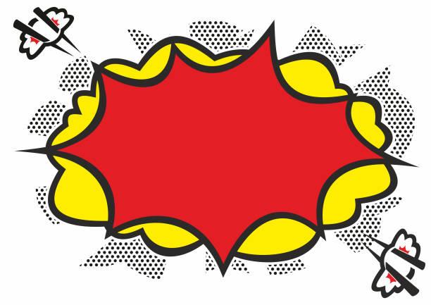 Comic Book Explosion vector art illustration