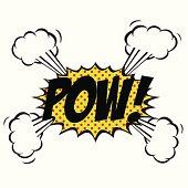 A pop art style comic book explosion.