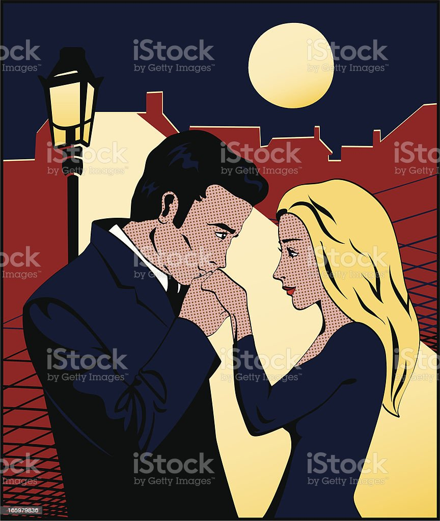 Comic Book Hand Kiss vector art illustration