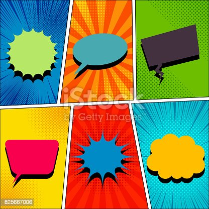 istock Comic book page template 825667006
