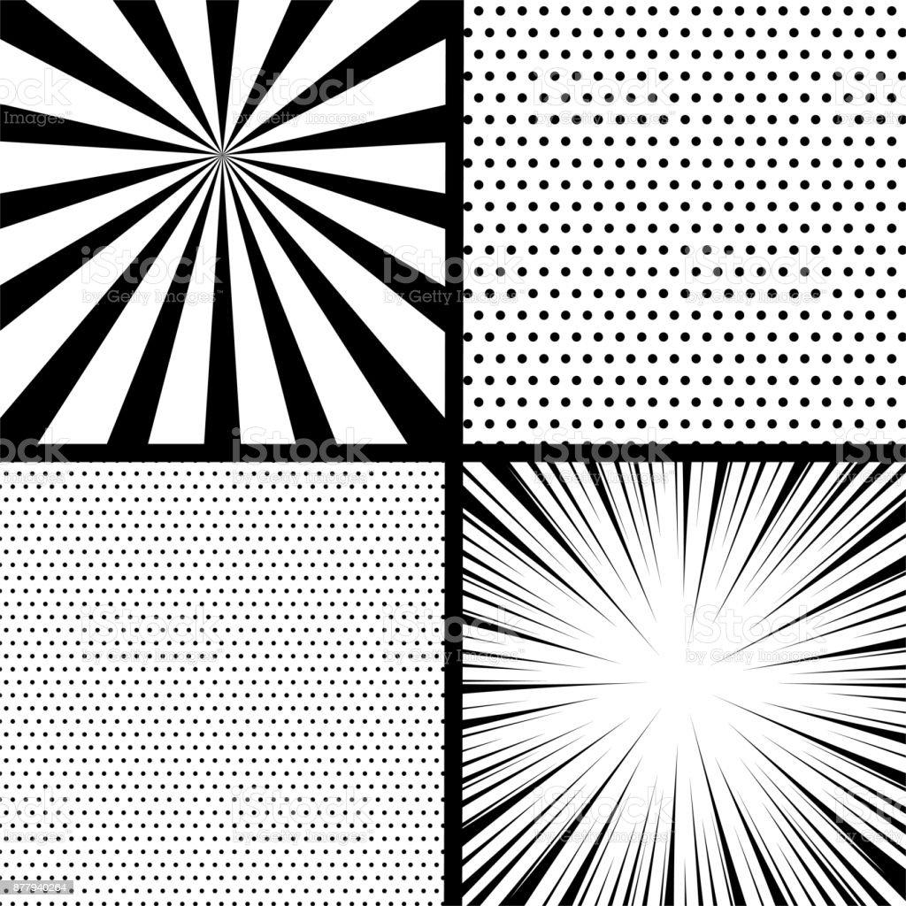 Comic book pop art monochrome mock up royalty-free comic book pop art monochrome mock up stock illustration - download image now
