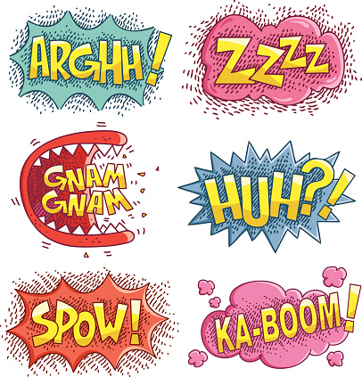 comic book sound effects 2